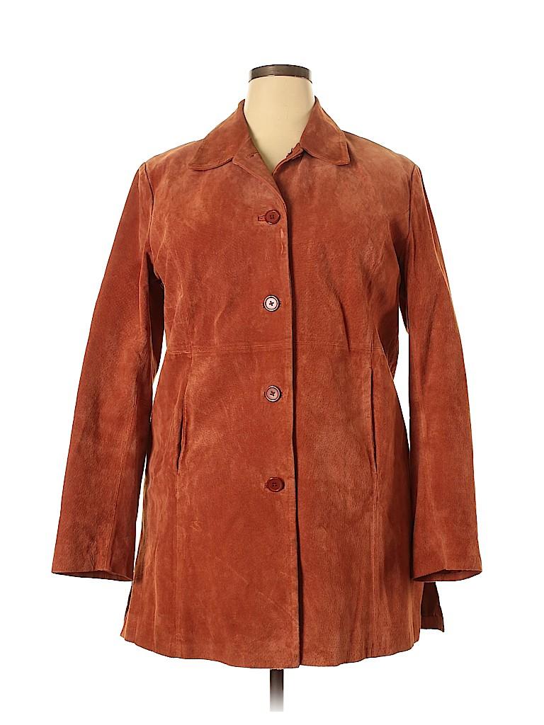 Relativity Women Leather Jacket Size XL