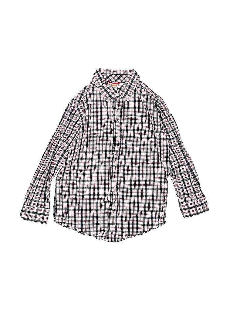 Gymboree Boys Long Sleeve Button-Down Shirt Size 5-6