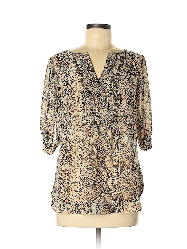 Angie Women Short Sleeve Blouse Size M