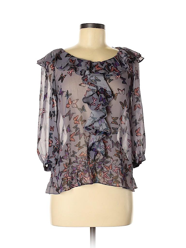 Ted Baker London Women 3/4 Sleeve Blouse Size 6 (2)