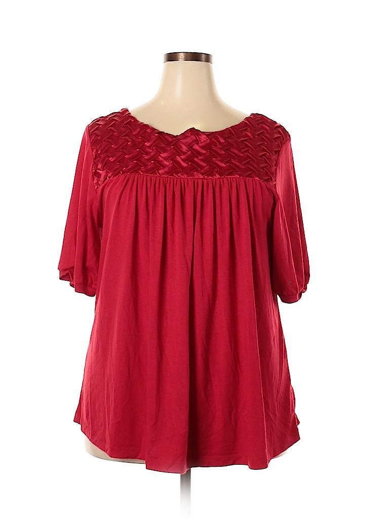 Alias Mae Women Short Sleeve Top Size 3X (Plus)