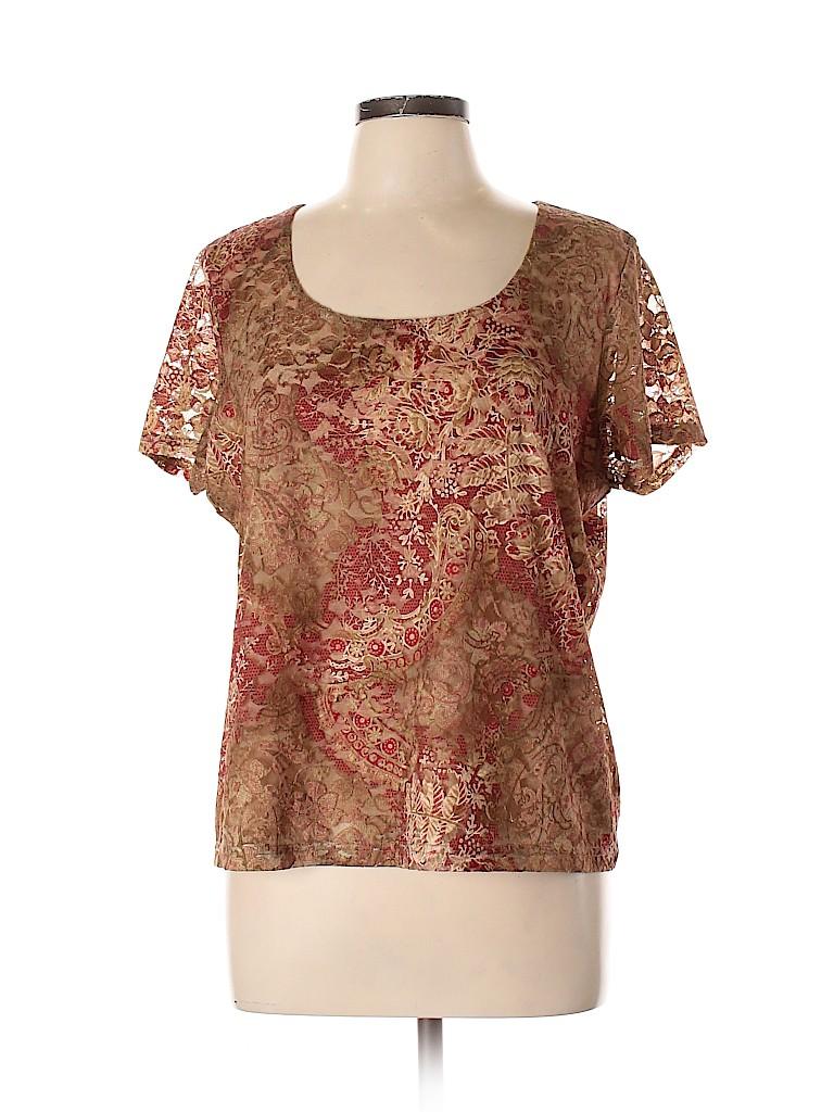 Emma James Women Short Sleeve Blouse Size XL