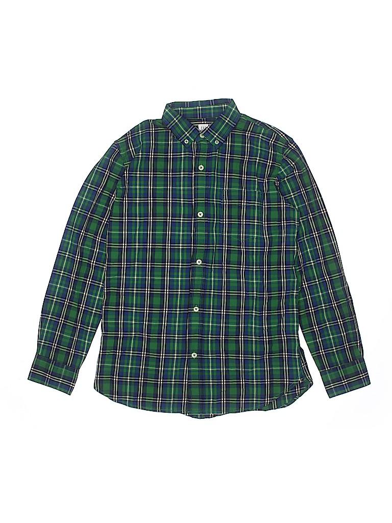 Gap Kids Boys Long Sleeve Button-Down Shirt Size 14 - 16
