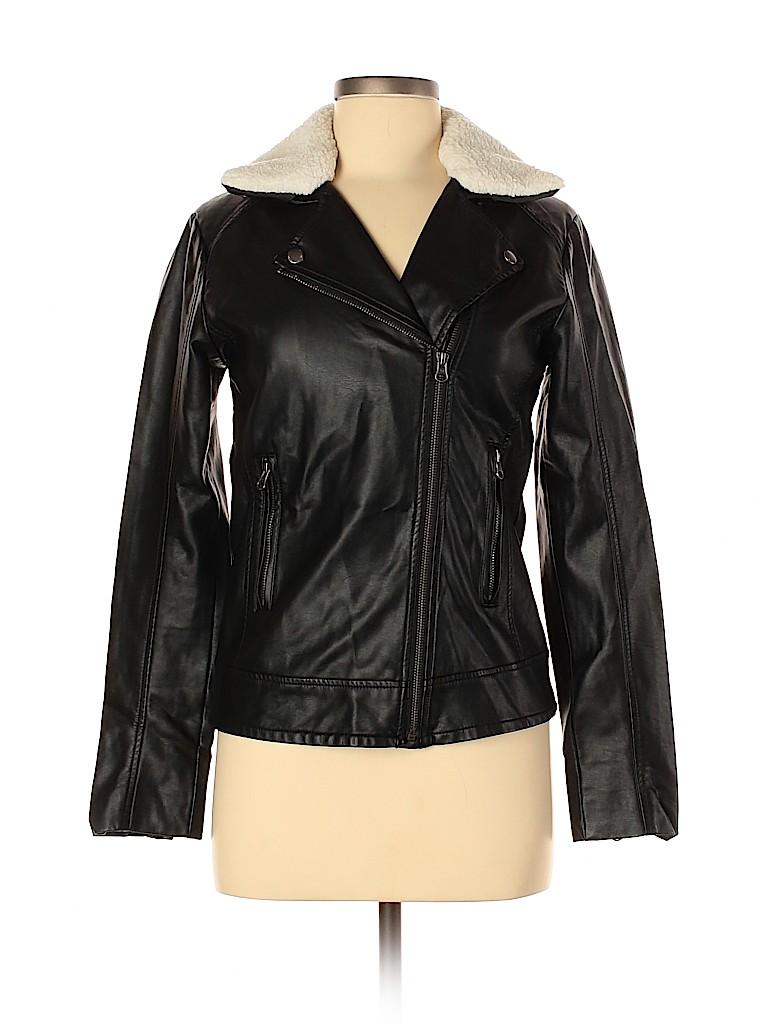 Gap Outlet Women Faux Leather Jacket Size 2