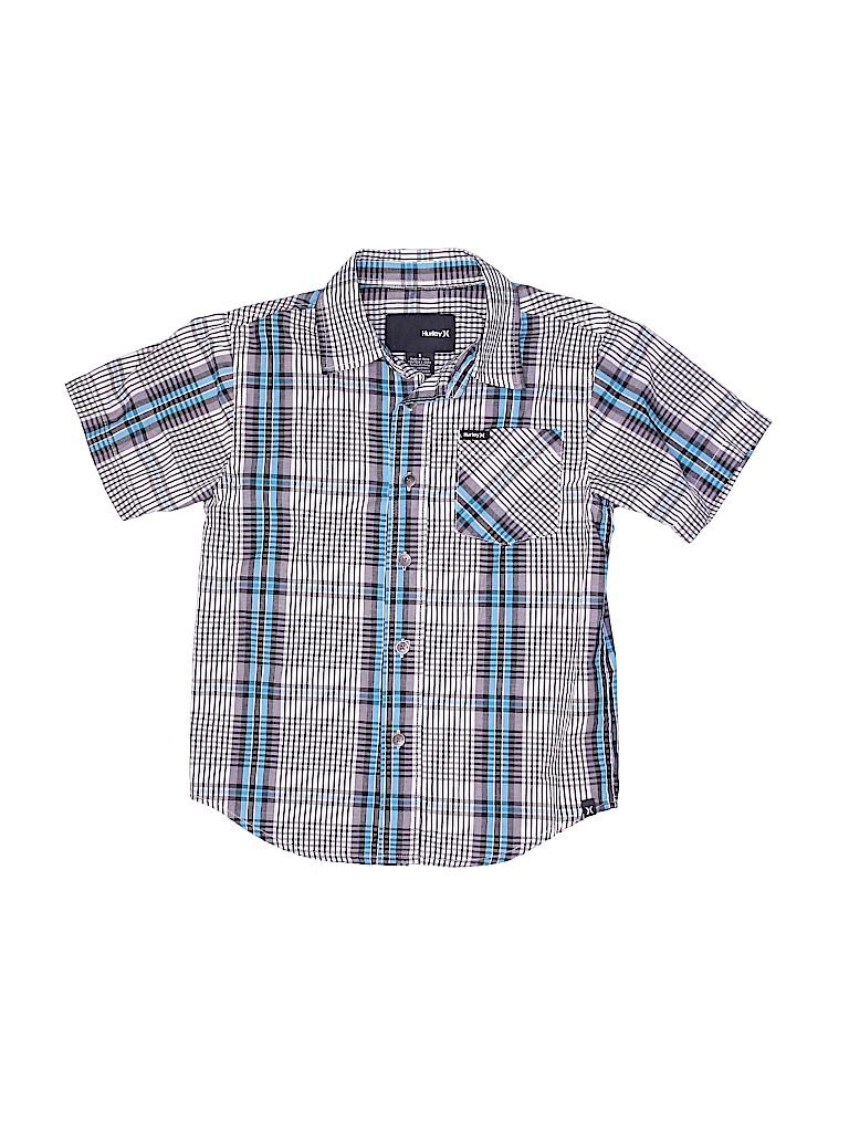 Hurley Boys Short Sleeve Button-Down Shirt Size 5