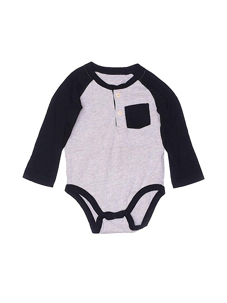 Baby Gap Boys Long Sleeve Onesie Size 18-24 mo