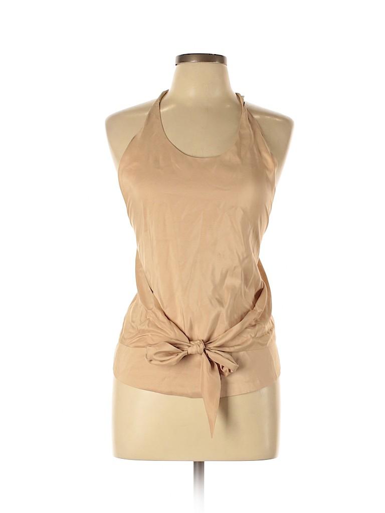 Halston Women Sleeveless Silk Top Size 44 (FR)