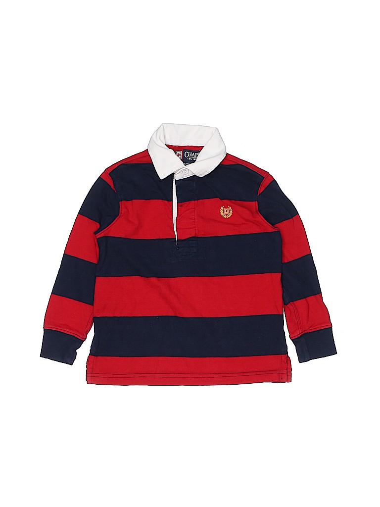 Chaps Boys Long Sleeve Polo Size 3
