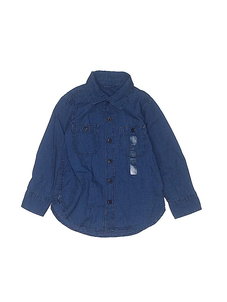 Gap Kids Boys Long Sleeve Button-Down Shirt Size 4