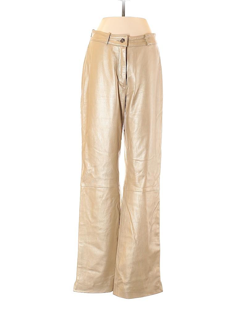 St. John Sport Women Leather Pants Size 2