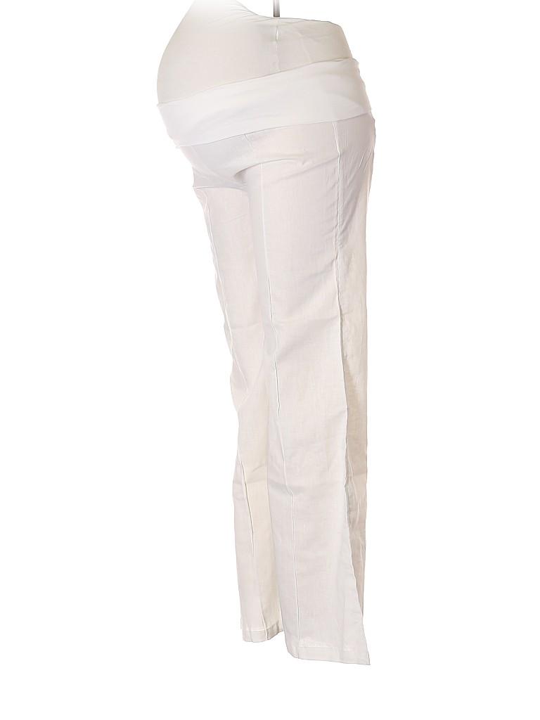 Arden B. Women Linen Pants Size L (Maternity)