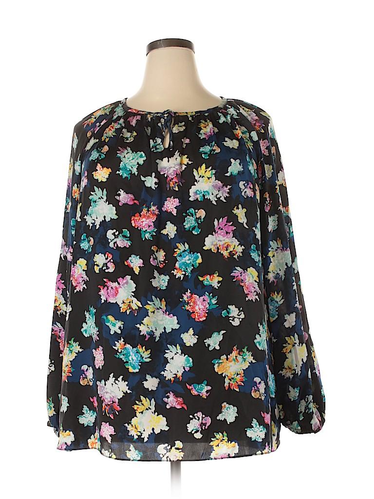 Ellen Tracy Women Long Sleeve Blouse Size 3X (Plus)