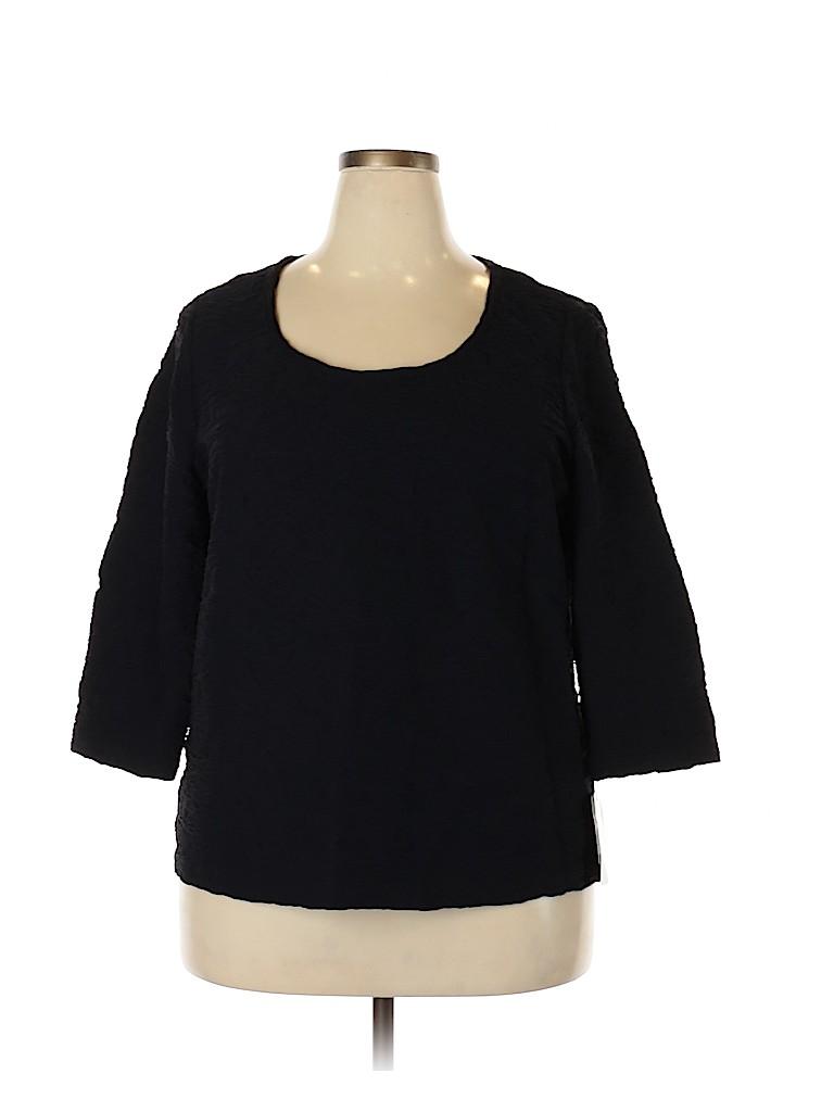 Doncaster Women 3/4 Sleeve Top Size 2X (Plus)