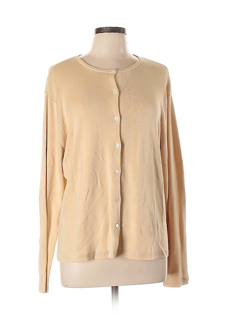 Talbots Women Silk Cardigan Size XL