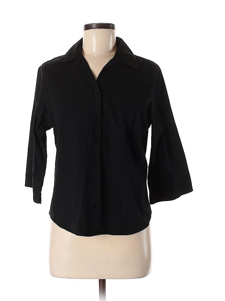 Fashion Bug Women Long Sleeve Button-Down Shirt Size M