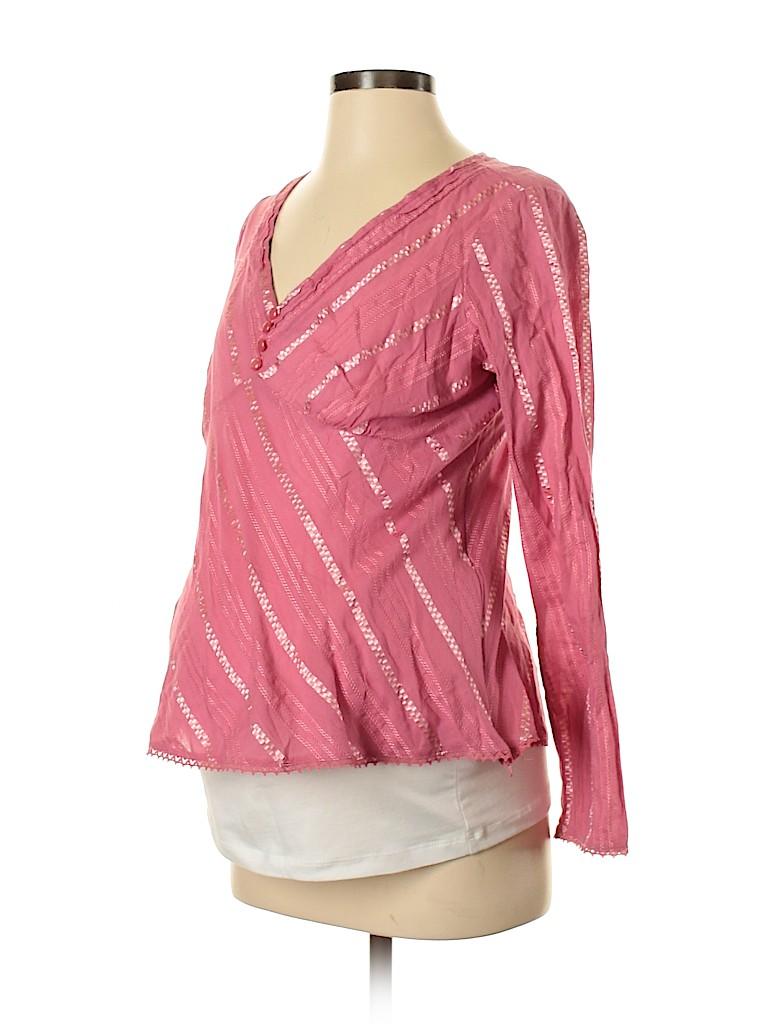 Liz Lange Maternity for Target Women Long Sleeve Blouse Size M (Maternity)