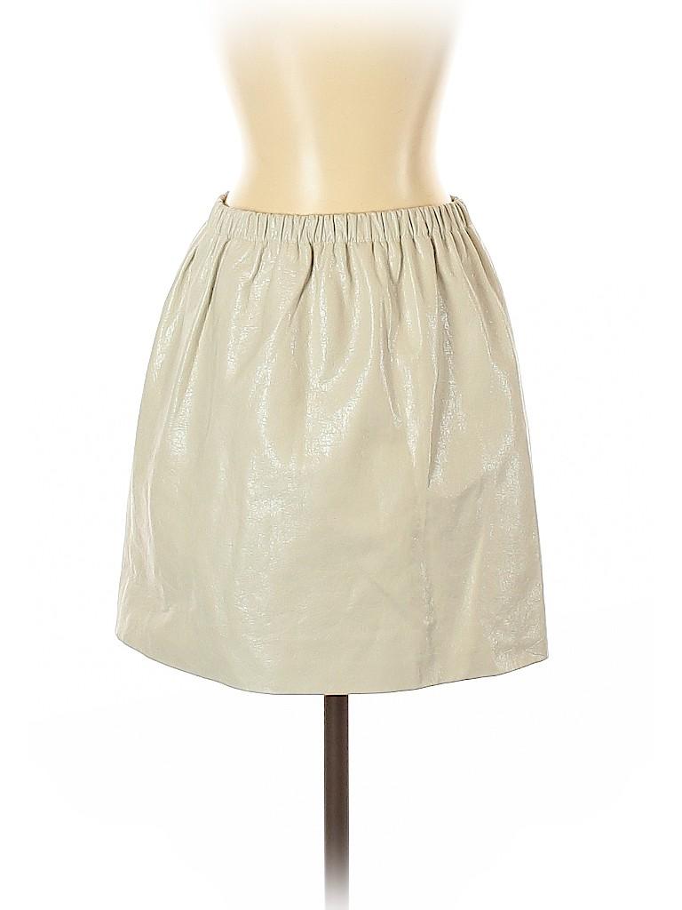 Miu Miu Women Leather Skirt Size 42 (IT)