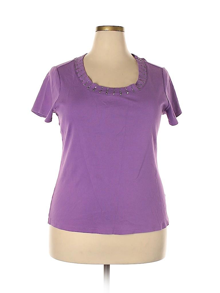 DressBarn Women Short Sleeve Top Size 1X (Plus)