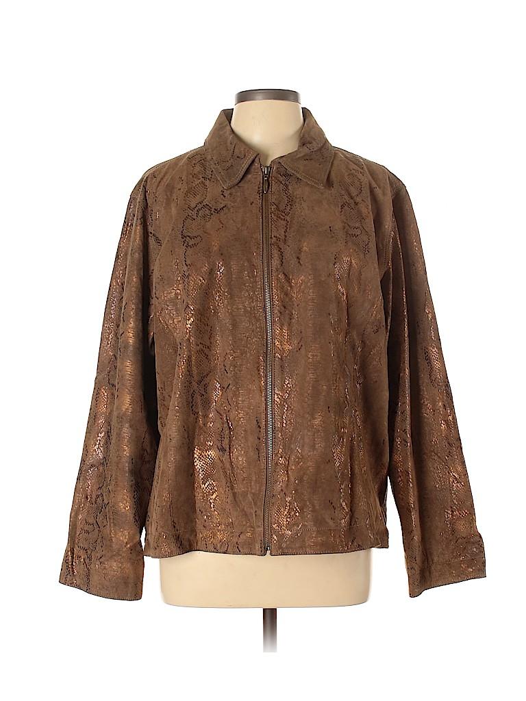 Chico's Women Leather Jacket Size XL (3)