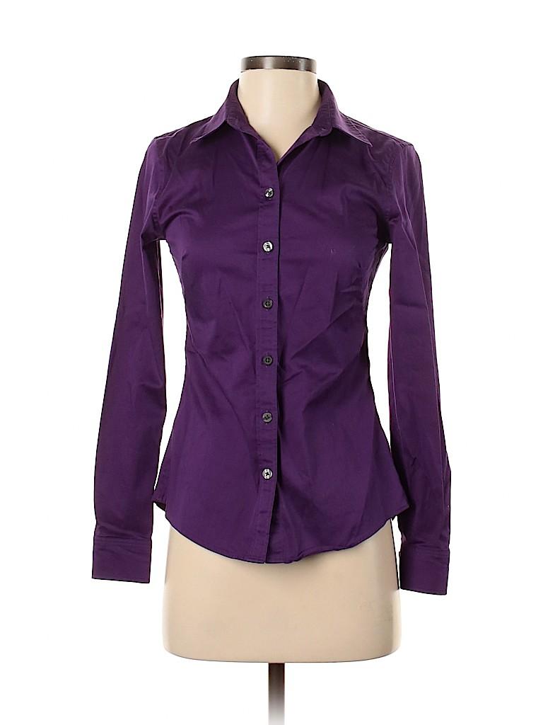 Banana Republic Factory Store Women Long Sleeve Button-Down Shirt Size 2