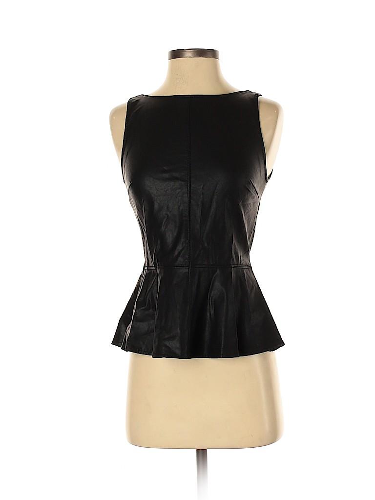 Trafaluc by Zara Women Faux Leather Top Size S