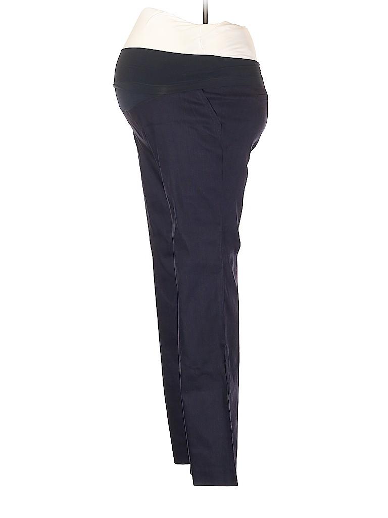 A Pea in the Pod Women Linen Pants Size L (Maternity)