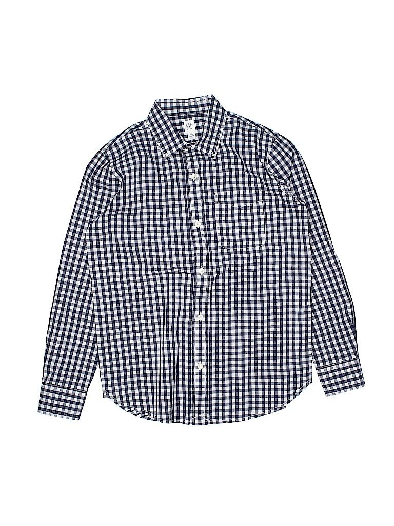 Gap Kids Boys Long Sleeve Button-Down Shirt Size 12