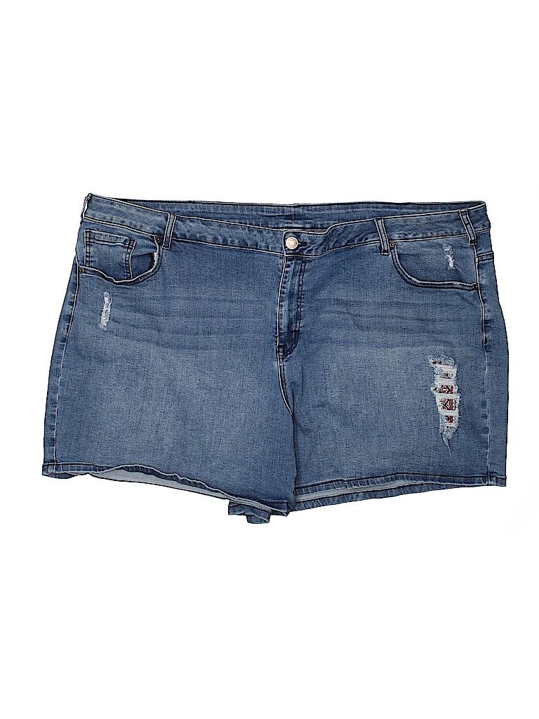 Venezia Women Denim Shorts Size 28 (Plus)