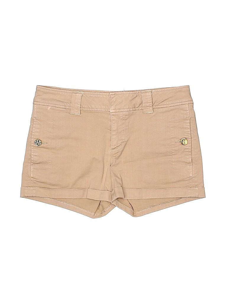 Tory Burch Women Khaki Shorts 27 Waist