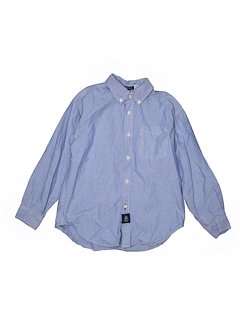 Gap Kids Boys Long Sleeve Button-Down Shirt Size 7 - 8