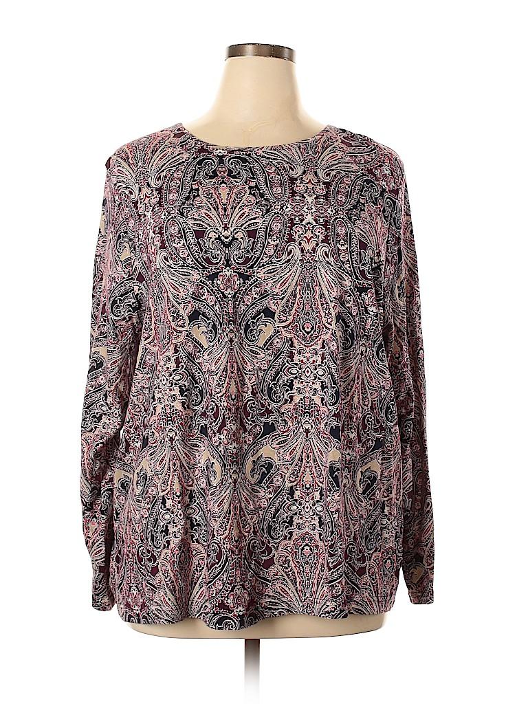 Croft & Barrow Women 3/4 Sleeve T-Shirt Size 3X (Plus)