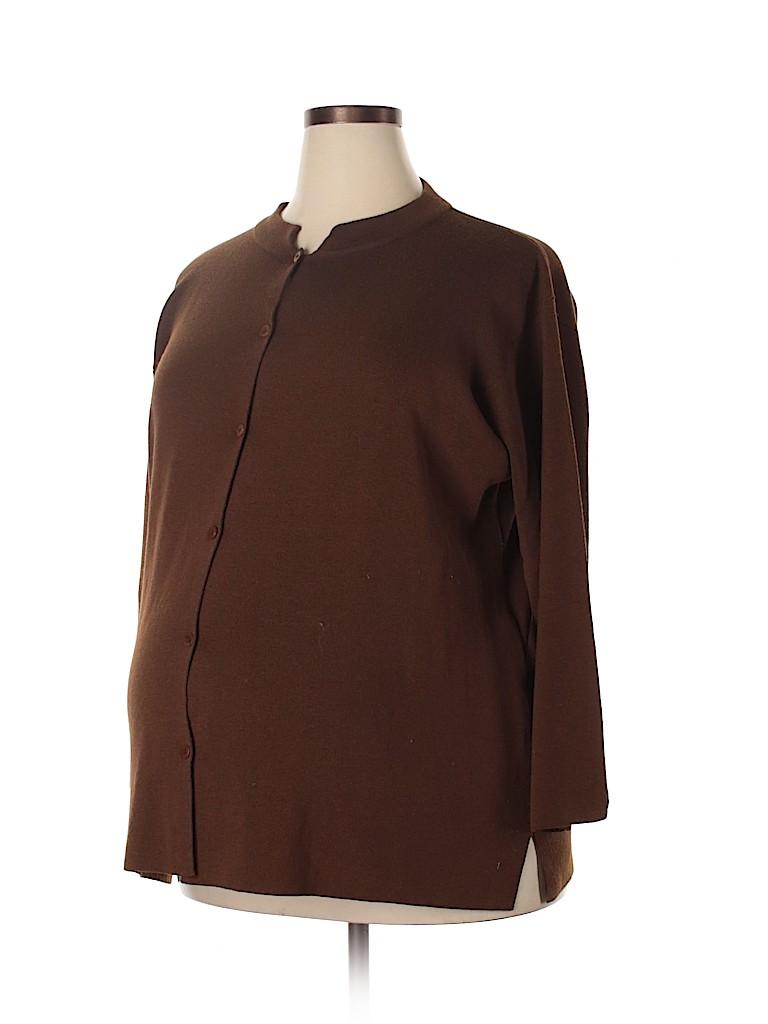 A Pea in the Pod Women Wool Cardigan Size 3X (Maternity)