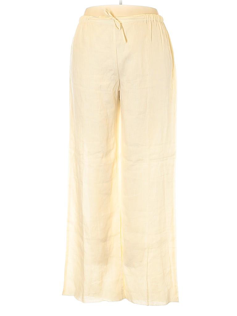 Marina Rinaldi Women Linen Pants Size 20 (29) (Plus)