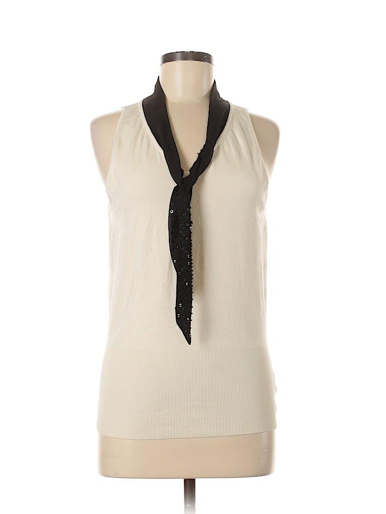 White House Black Market Women Silk Pullover Sweater Size M