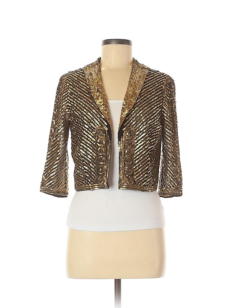 BCBGMAXAZRIA Women Long Sleeve Silk Top Size S
