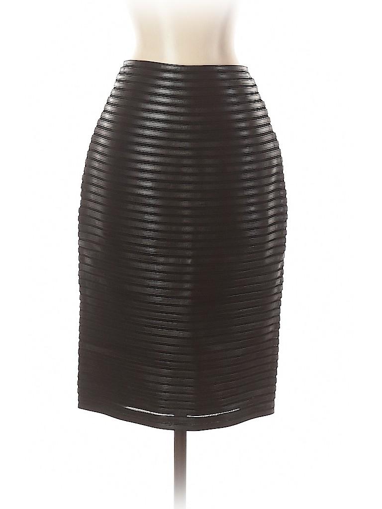 Ralph Lauren Black Label Women Leather Skirt Size 4