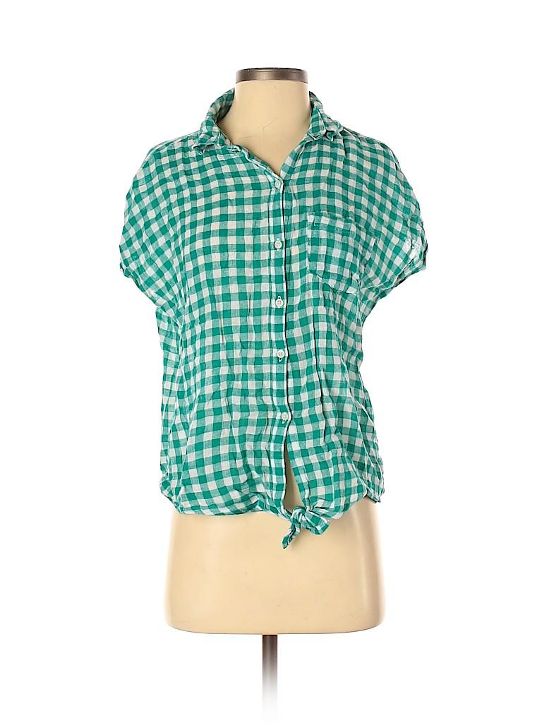 Old Navy Women Short Sleeve Button-Down Shirt Size S