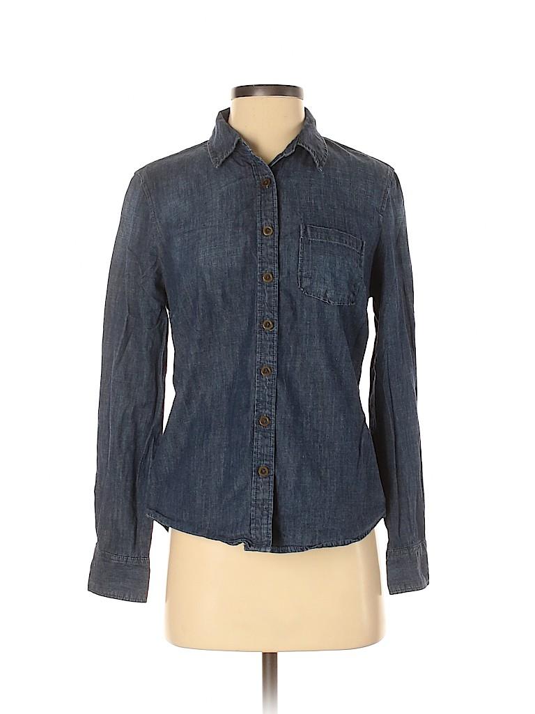 Banana Republic Factory Store Women Long Sleeve Button-Down Shirt Size S