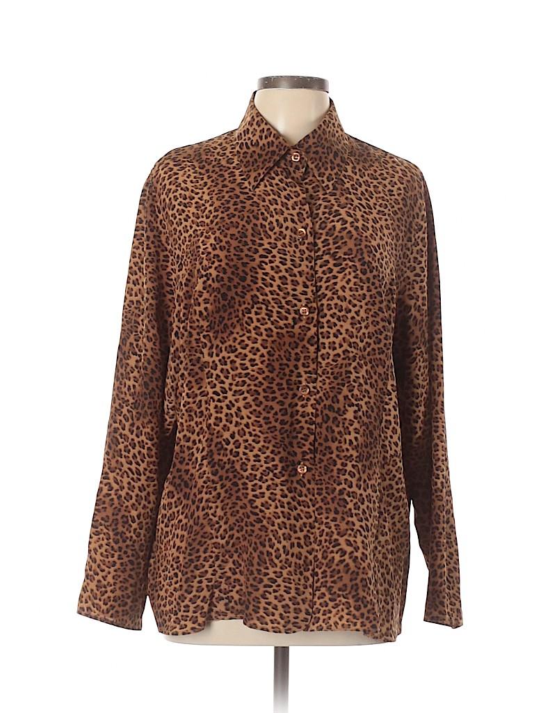 Marina Rinaldi Women Long Sleeve Silk Top Size 16 (25)