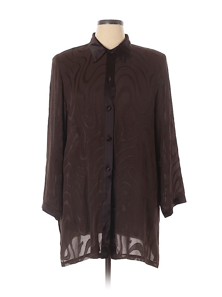Marina Rinaldi Women Long Sleeve Blouse Size 16 (25)