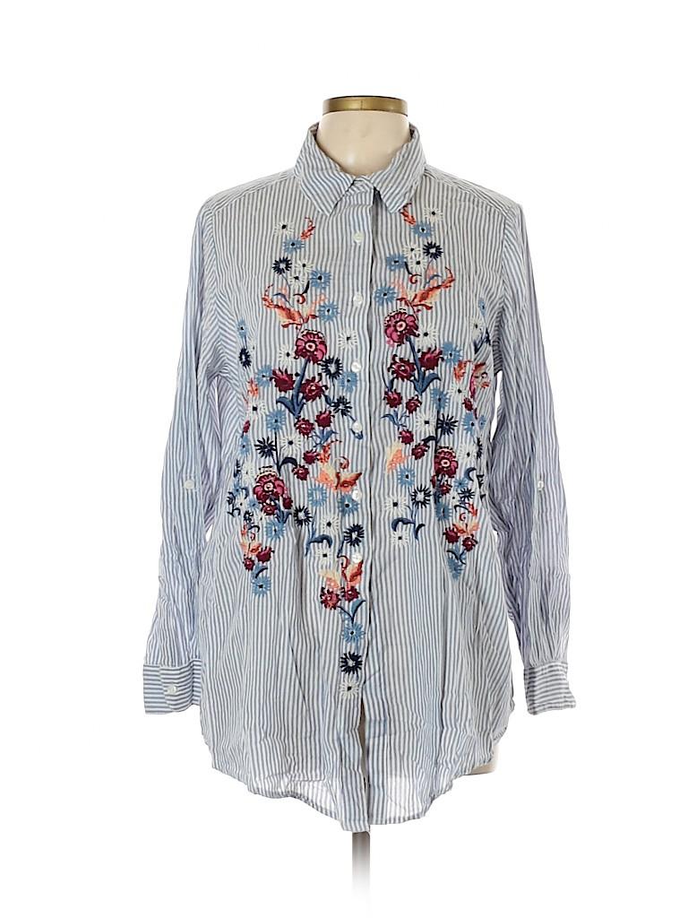 Style&Co Women Long Sleeve Button-Down Shirt Size 1X (Plus)