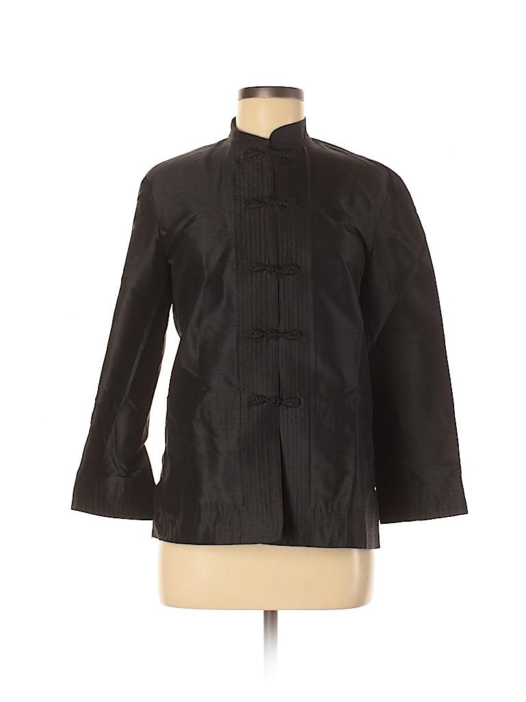 Ralph Lauren Black Label Women Long Sleeve Silk Top Size 6