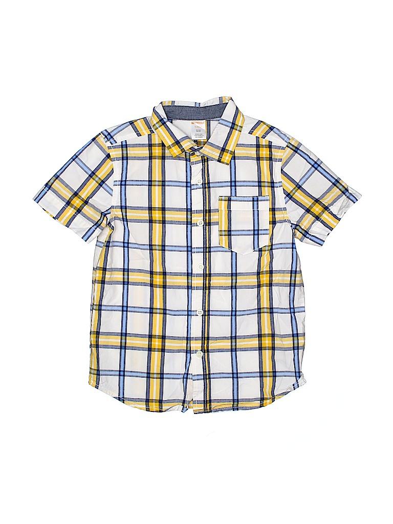 Gymboree Boys Short Sleeve Button-Down Shirt Size 5 - 6