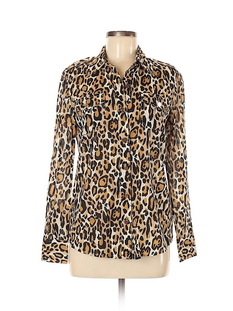 Tory Burch Women Long Sleeve Button-Down Shirt Size 6