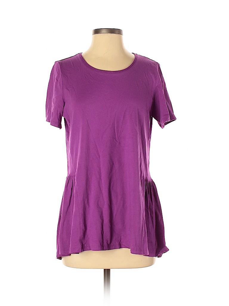 LOGO by Lori Goldstein Women Short Sleeve Top Size S