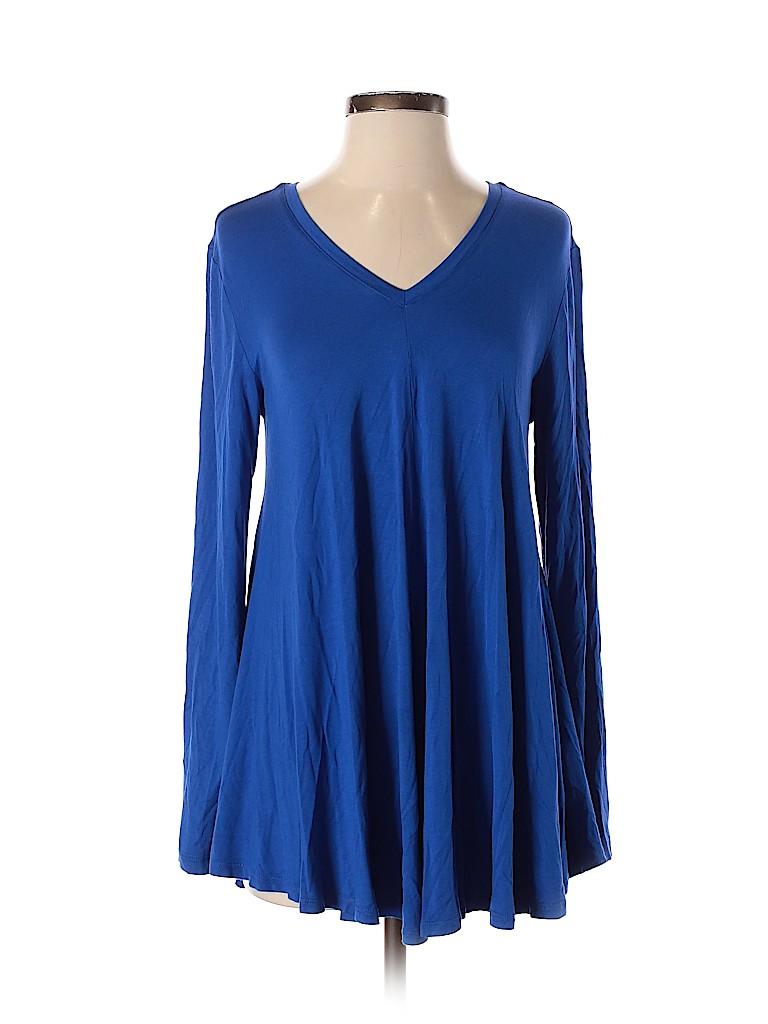 LOGO by Lori Goldstein Women Long Sleeve Top Size S