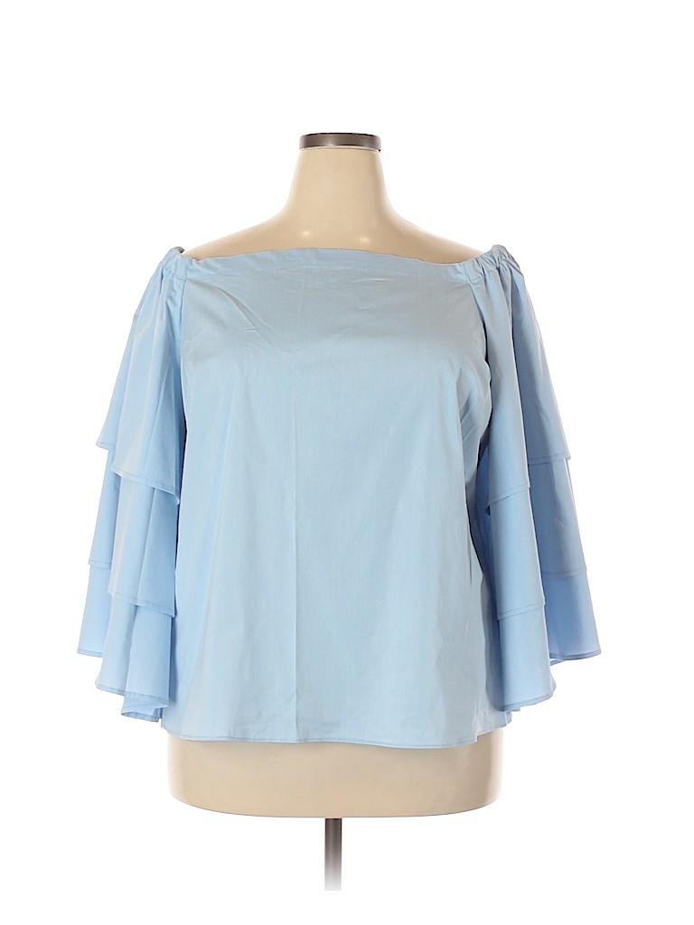 Lane Bryant Women 3/4 Sleeve Blouse Size 18 (Plus)