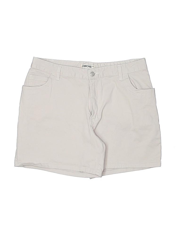 Cherokee Women Khaki Shorts Size 16