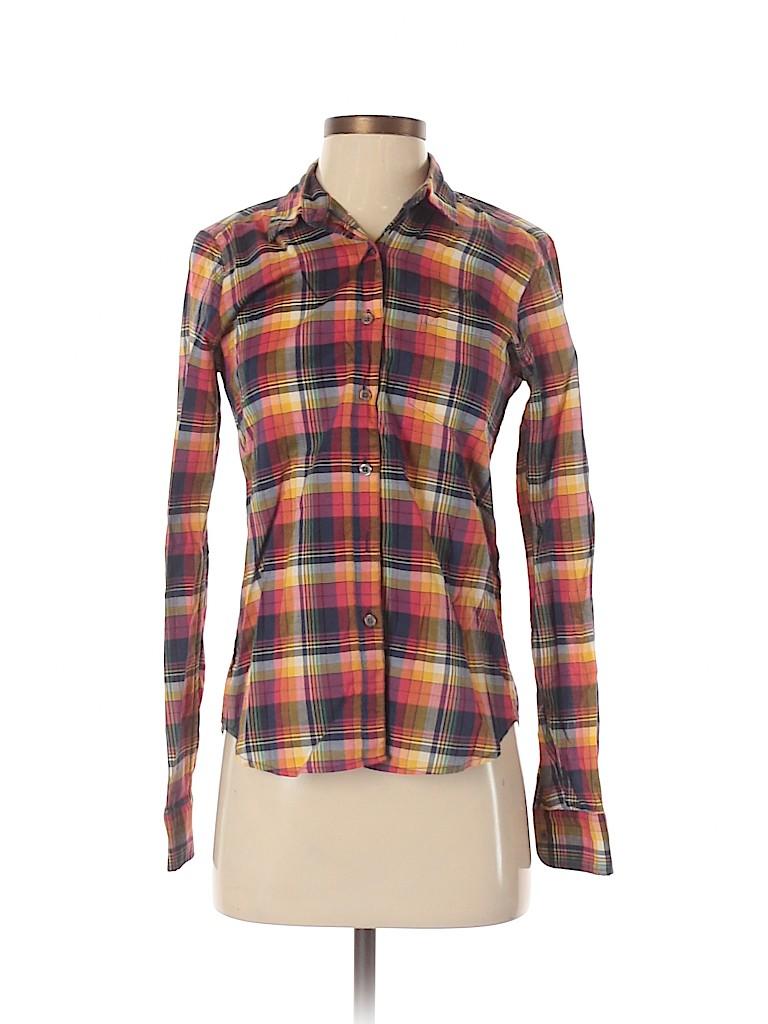 Steven Alan Women Long Sleeve Button-Down Shirt Size S