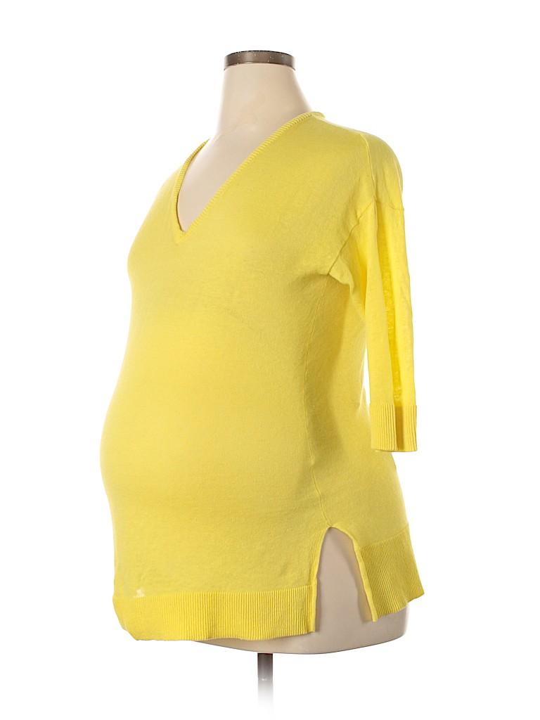 A Pea in the Pod Women Pullover Sweater Size L (Maternity)